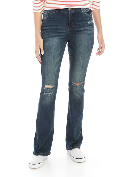 TRUE CRAFT Single Button Bootcut Jeans