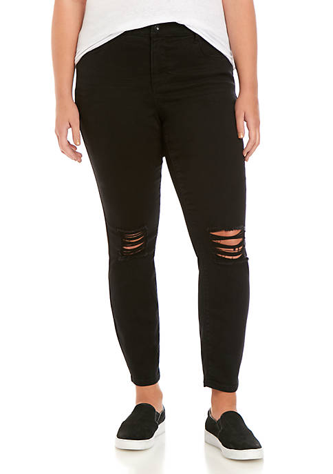 TRUE CRAFT Plus Size Mid Rise Skinny Jeans
