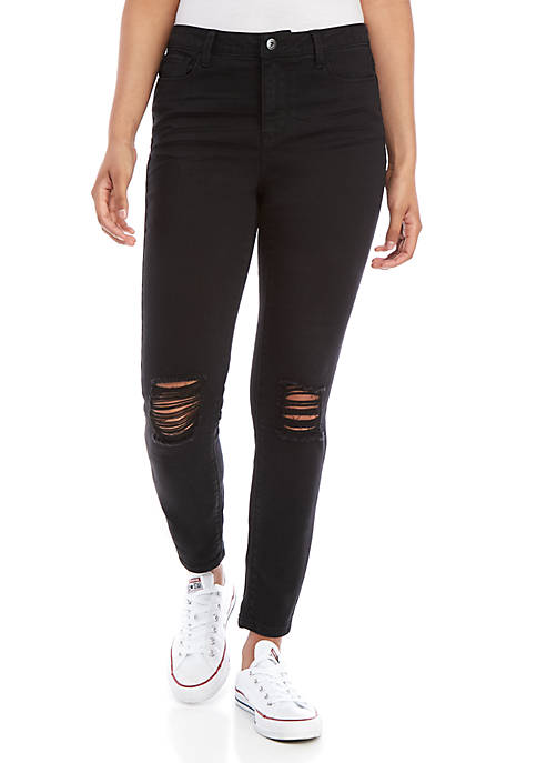 TRUE CRAFT Midrise Destructed Skinny Jeans