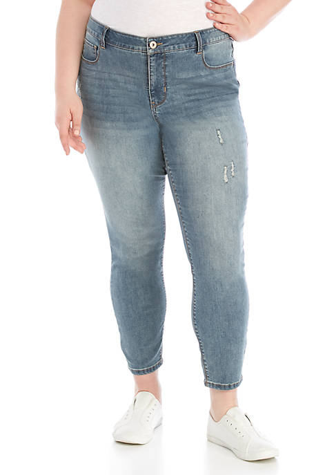 Plus Size Mid Rise Skinny Jeans