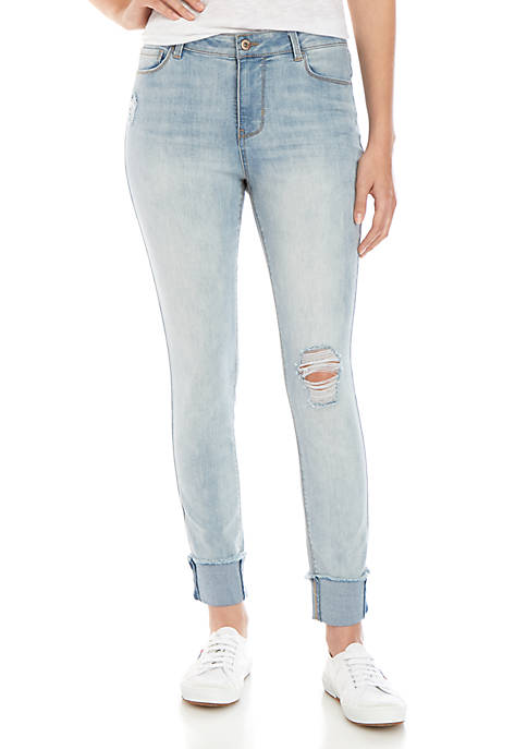 TRUE CRAFT Mid Rise Skinny Ankle Jeans