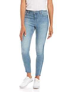 Tonal Side Detail Ankle Skinny Jean