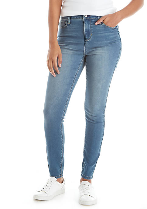 TRUE CRAFT High Rise Single Button Jeans