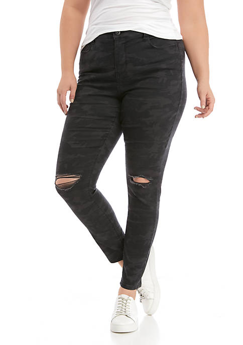 TRUE CRAFT Plus Size High Rise Skinny Jeans