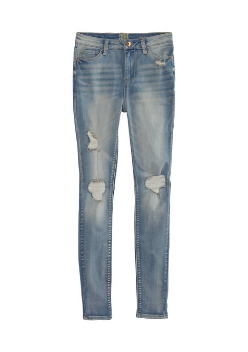 TRUE CRAFT Juniors High Rise Skinny Jeans