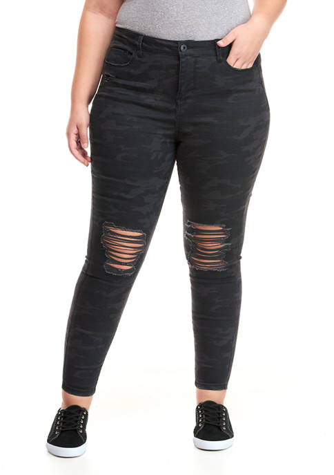 TRUE CRAFT Plus Size High Rise Skinny Jeans