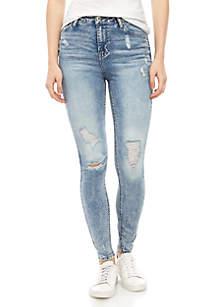 TRUE CRAFT High Rise Short Skinny Jeans - Short