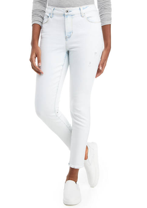 TRUE CRAFT Juniors Mid Rise Skinny Ankle Jeans