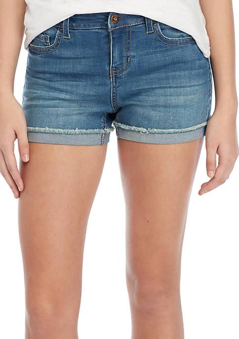 Midrise Cuffed Jean Shorts