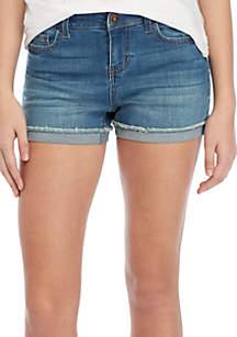 TRUE CRAFT Midrise Cuffed Jean Shorts