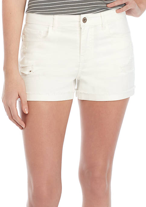 TRUE CRAFT Cuffed Denim Shorts