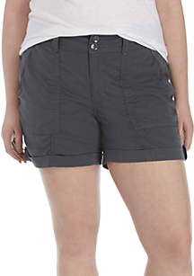 TRUE CRAFT Plus Size Utility Shorts