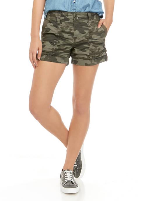 Juniors Camouflage Utility Shorts
