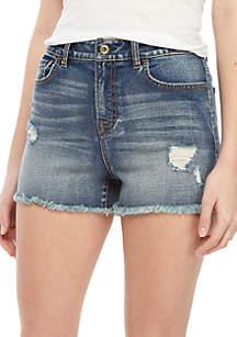 TRUE CRAFT Highrise Jean Shorts