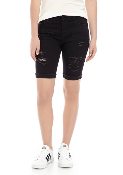 Juniors 9 Inch Bermuda Shorts