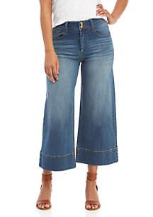 TRUE CRAFT Wide Crop Gardner Jeans