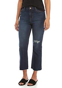 TRUE CRAFT Jerry Crop Flare Jeans