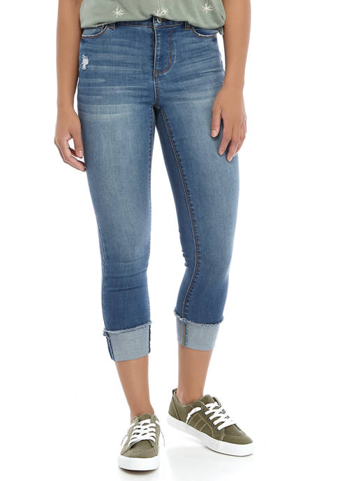 TRUE CRAFT Clean Cuff Crop Jeans
