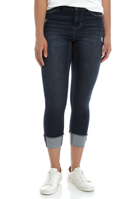 TRUE CRAFT Clean Cuff Cropped Jeans