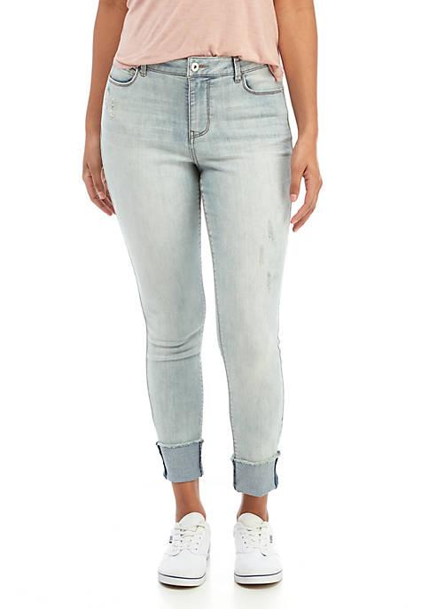 TRUE CRAFT Brent Cuffed Crop Jeans