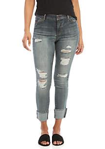 Bruno Cuffed Crop Destructed Jeans