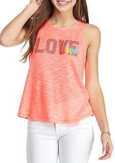 Inspired Hearts Pink Fly Away Back Tank
