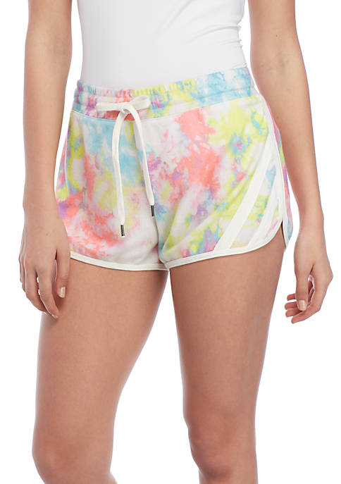Charmed Hearts Tie-Dye Soft Shorts