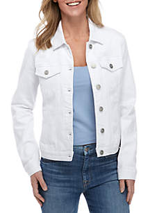 New Directions® White Denim Jacket