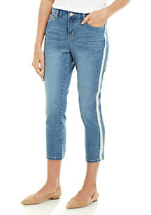 New Directions® Tuxedo Side Stripe Clean Hem Jeans