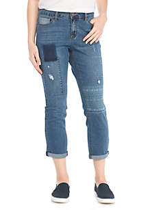 Rolled Skinny Crop Discharge Pants