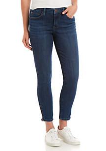 New Directions® Side Zip Denim Jeans