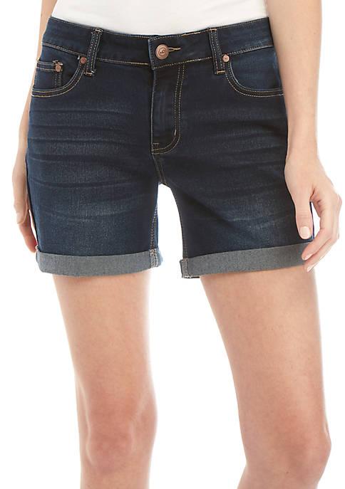 Rolled Cuff Jean Shorts