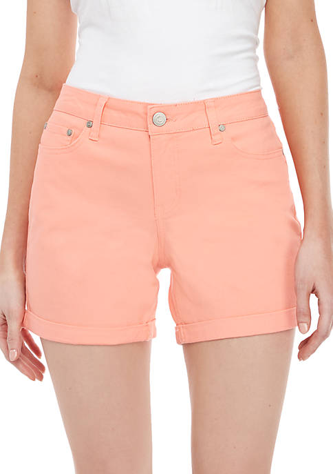 New Directions® 5-Pocket Roll Cuff Shorts