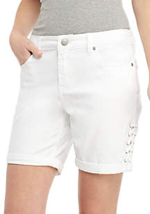 New Directions® 9-in Rolled to 7-in Lace-Up Shorts