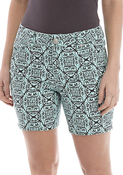 New Directions® Printed Shorts