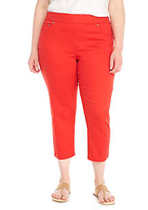 Plus Size Pull-On Twill Pants