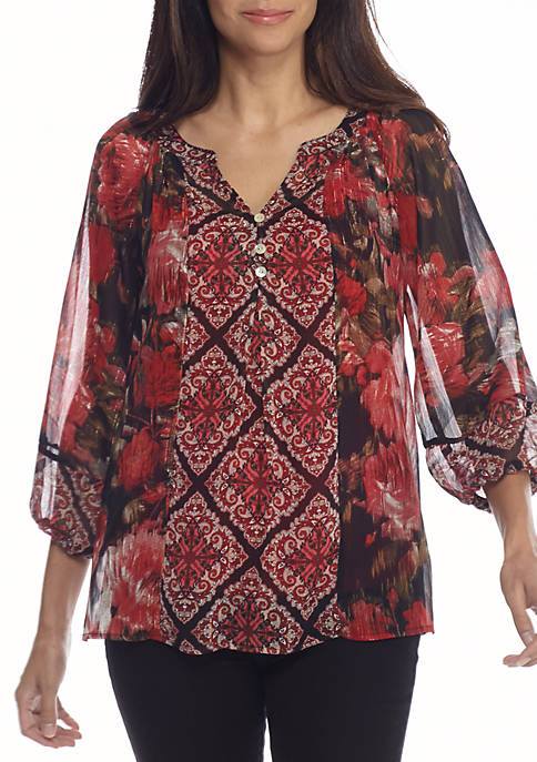 New Directions® Clara Peasant Top