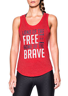 Under Armour® Home of Free and Brave Graphic Tank