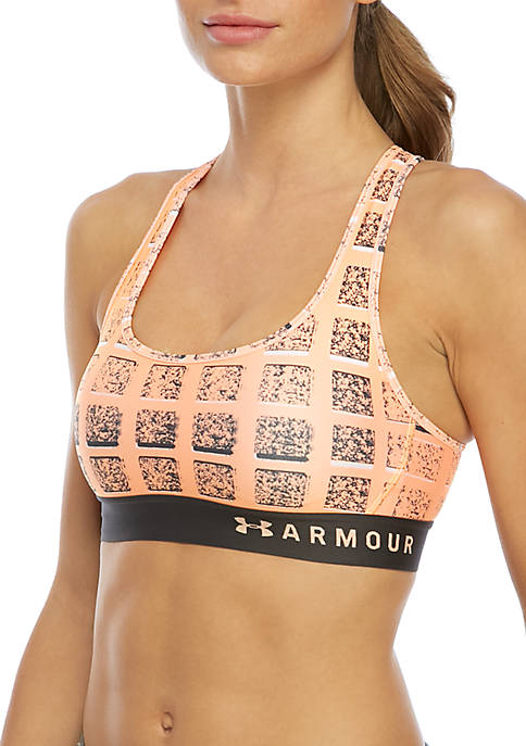Under Armour® Mid Crossback Print Sports Bra