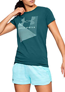 Sportstyle Mesh Logo Crew Neck Tee