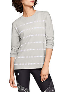 Graphic Stripe Long Sleeve Tee