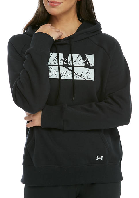 Under Armour® Rival Graphic Script Hoodie