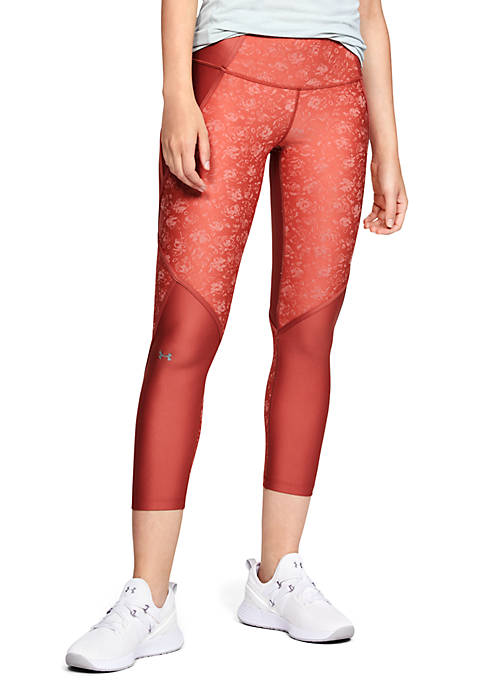 Under Armour® Ankle Crop Edgelit Jacquard Leggings