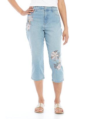 b0f081a864c8a8 Gloria Vanderbilt. Gloria Vanderbilt Amanda Embroidered Capris