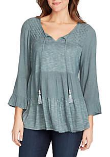 Jeanne Tassel Tier Knit Top