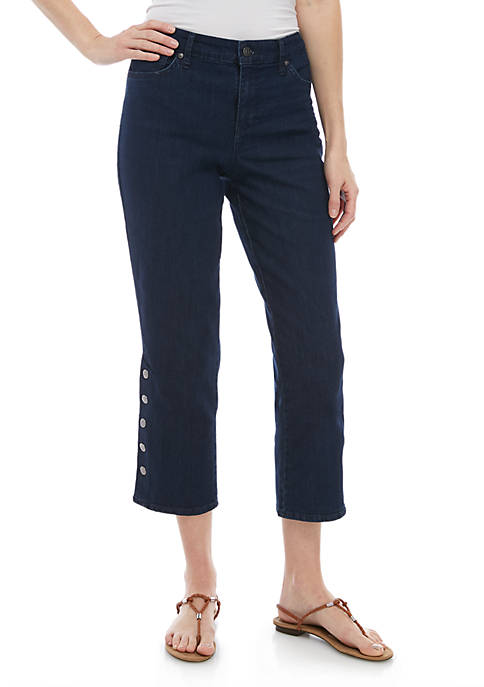 Gloria Vanderbilt Rail Straight Jeans with Snaps