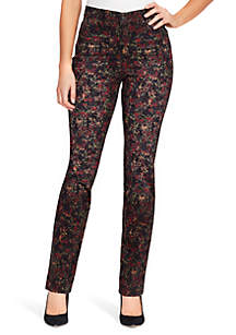 Amanda Foliage Print Jeans