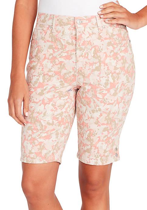 Gloria Vanderbilt Amanda Bermuda Petal Print Shorts