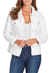 Bandolino Classic Denim Jacket with Lace-Up Detailing