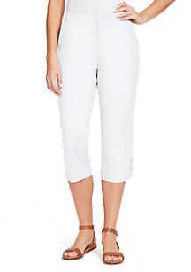 Gloria Vanderbilt Violet Polished Capri Pants